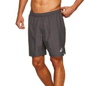 "ASICS Men's Silver 7"" 2-N-1 Short Running Clothes"
